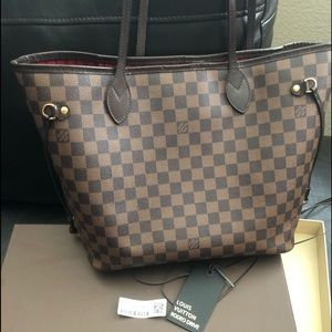Louis Vuitton Neverfull MM Damier Ebene Tote